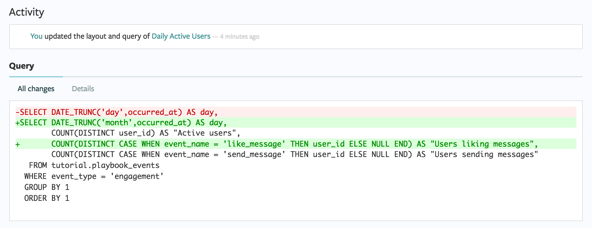 SQL Query Diffs
