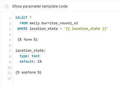Parameters in Embed Code