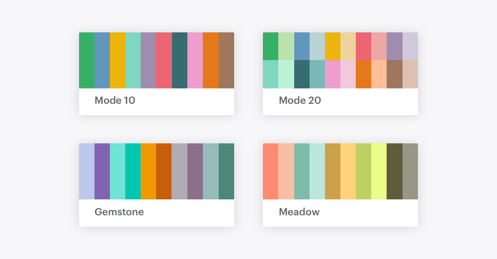 Brand new default palettes.