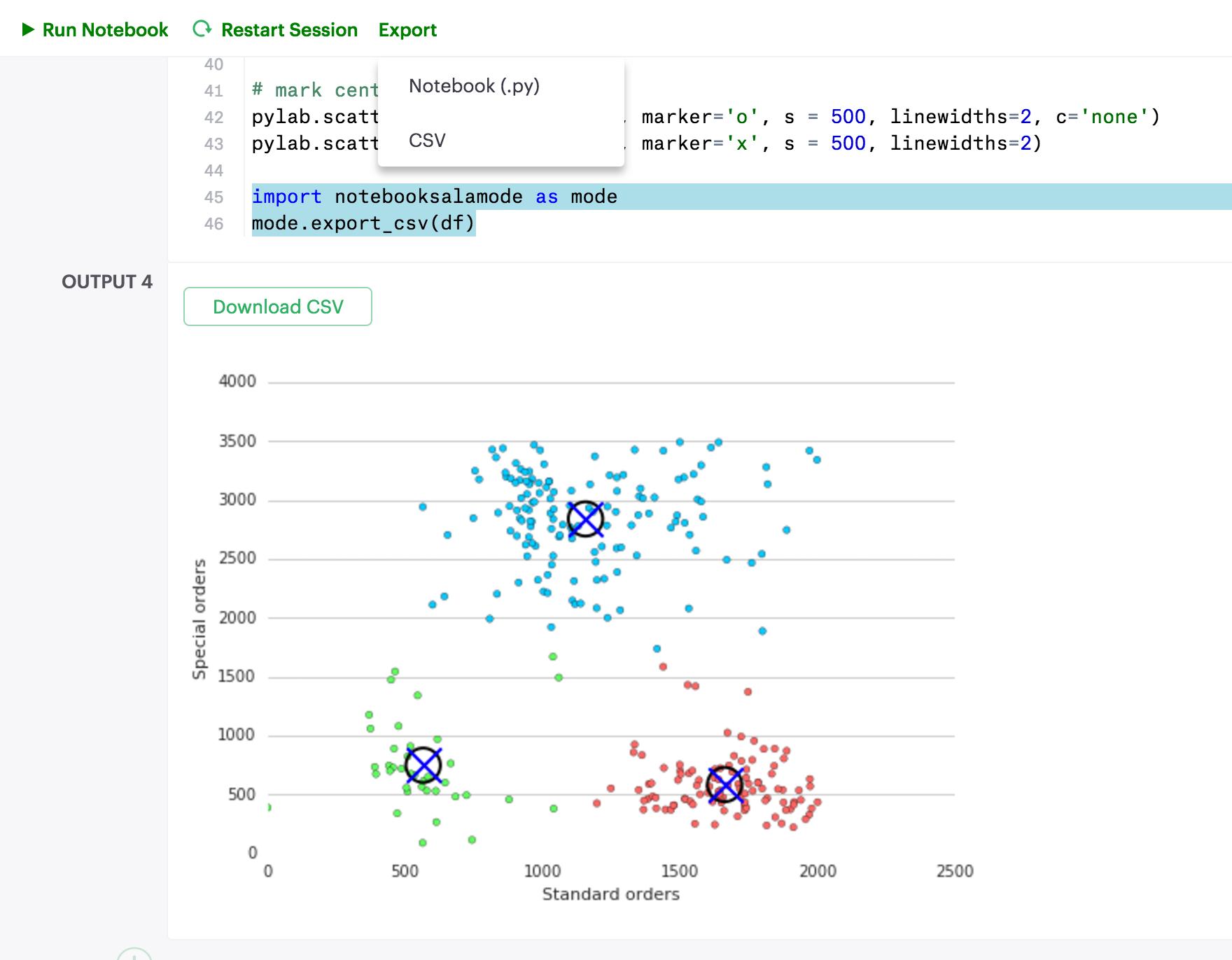 Export pandas DataFrame