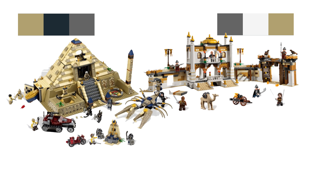 Pharaoh's Quest and Prince of Persia Legos