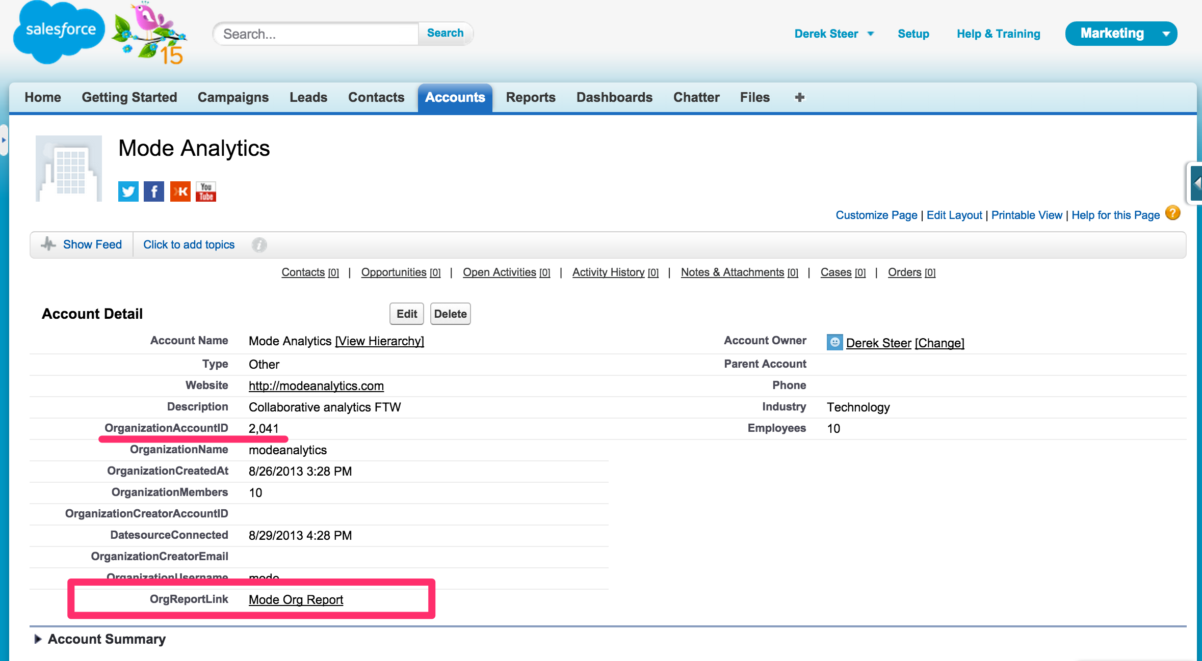 Adding Parameterized Queries to Salesforce