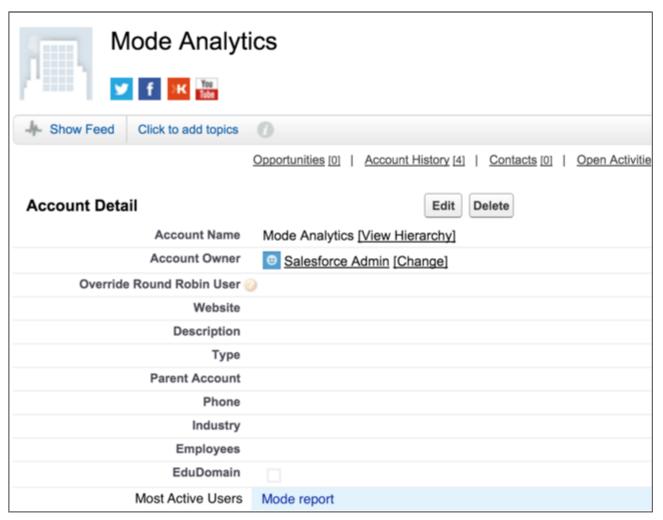 Custom Field in Salesforce
