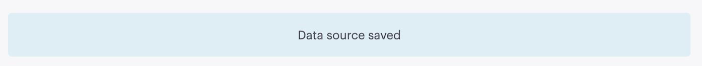 Data Source Saved