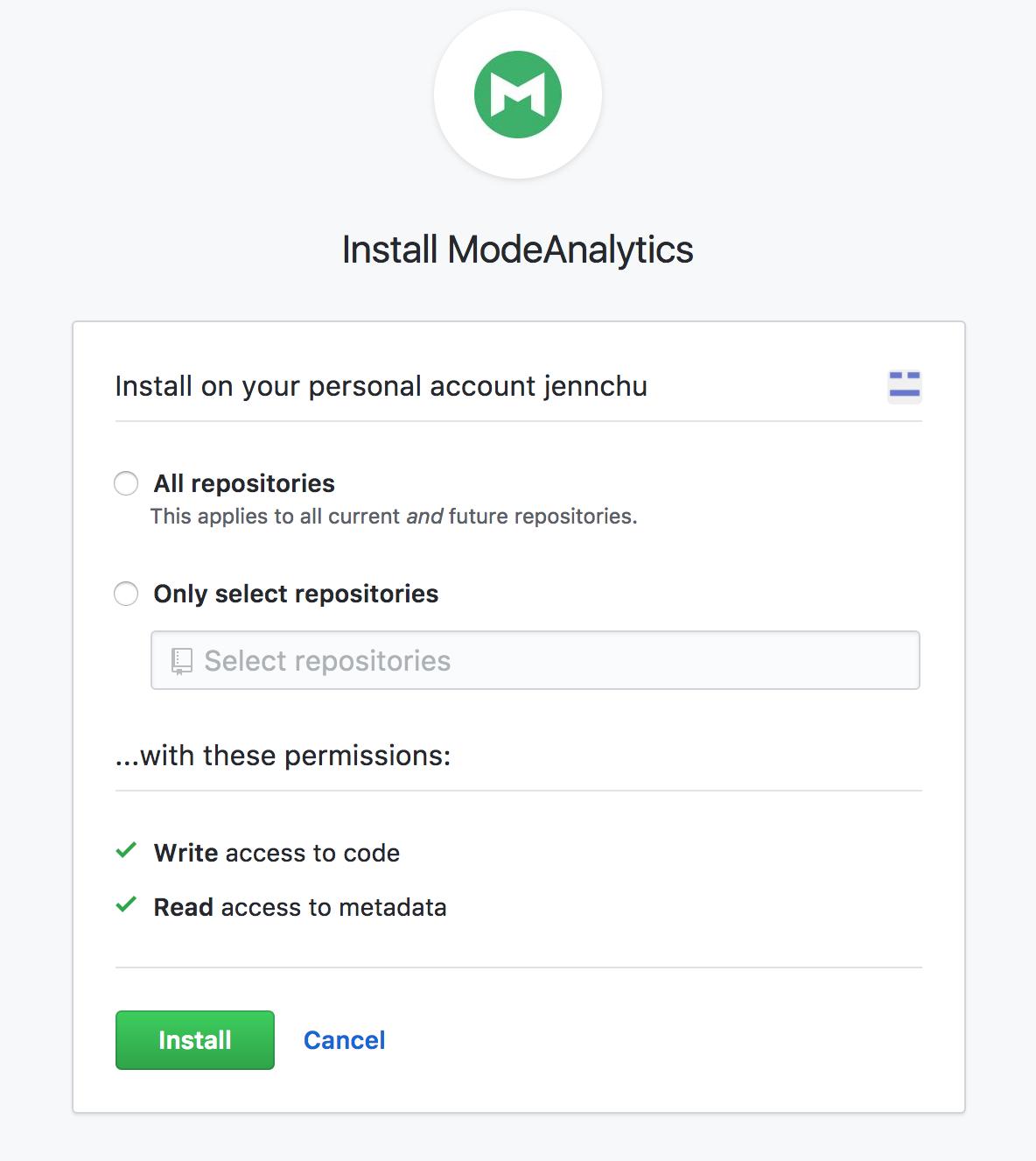 GitHub Mode app
