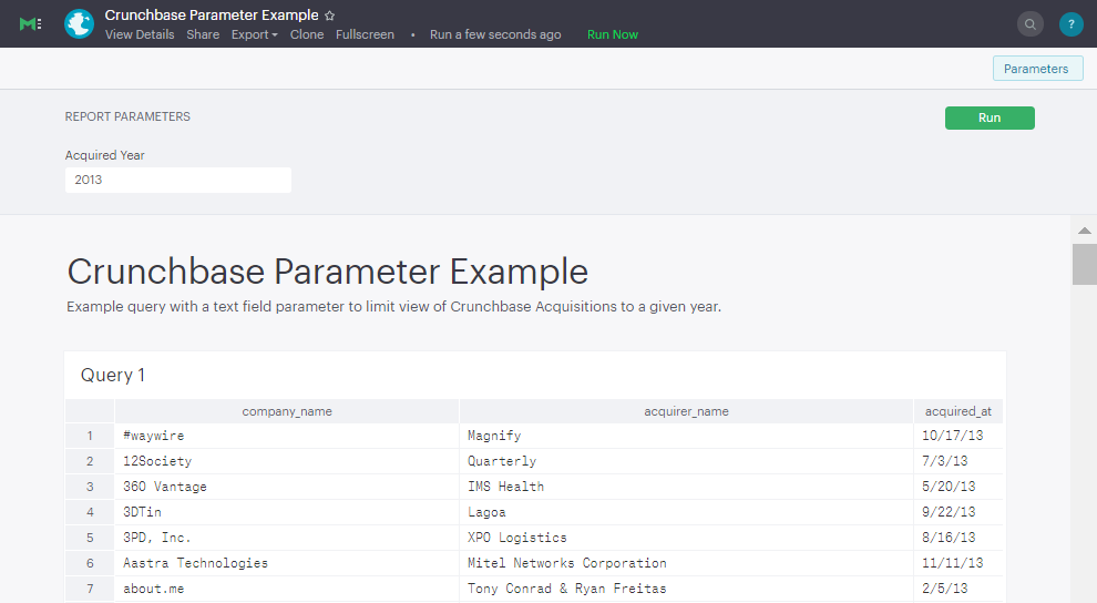 Parameter Example