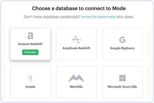 Connecting your database to Mode