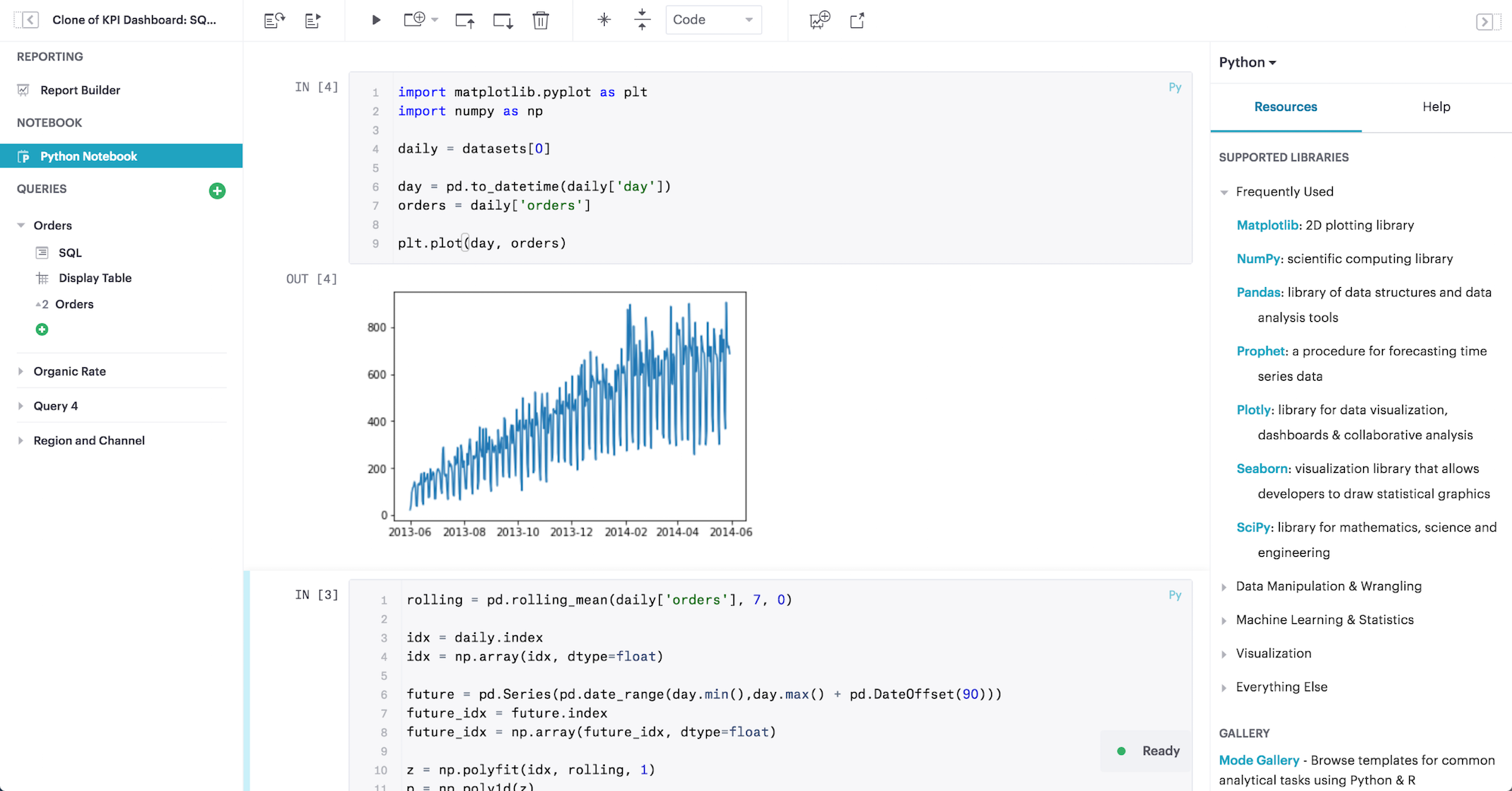 SQL + Python + R  All in one platform | Mode